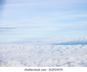 Blurred cloudy blue sky abstract background Summer. holidays concept.