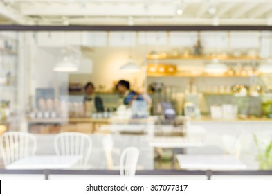 Blurred coffee shop for background about coffee.