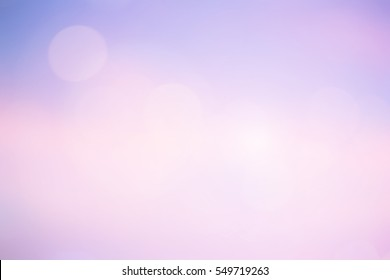 blurred color glamour blush sky background with bokeh light.