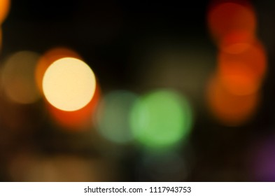 Blurred colorful bokeh lights abstract backgrounds