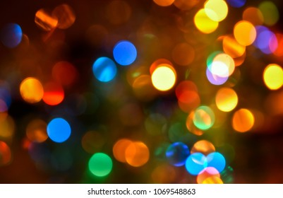 Blurred colorful lights background