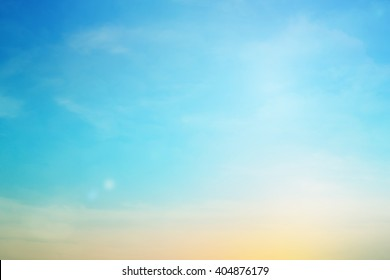 blurred colorful natural sky clouds landscape background with light