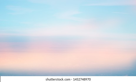 blurred colorful pastel of natural sky clouds landscape background with cloudscape for design
