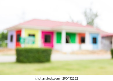 Blurred colors building construction site as background.