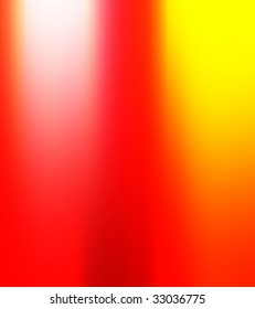 blurred colors in red, yellow, and white