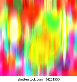 blurred colors and shapes in yellow, green, blue, pink, red