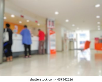 Blurred commercial bank