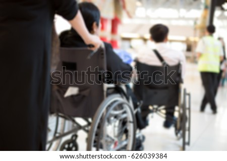 Image of: Amazon Blurred Concept Elderly People In Wheelchair Waiting At The Airport Shutterstock Blurred Concept Elderly People Wheelchair Waiting Stock Photo edit