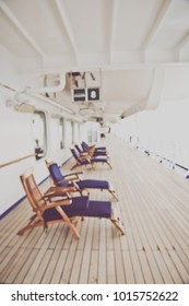 Blurred Cruise Ship Deck with Instagram Style Filter