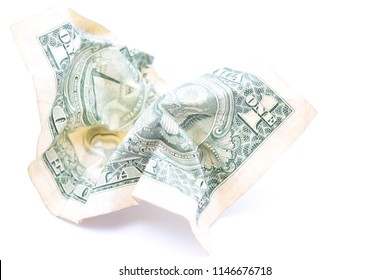 blurred crumpled dollar money background like concept of problem