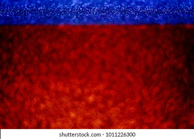 Blurred defocus red and blue background wall.