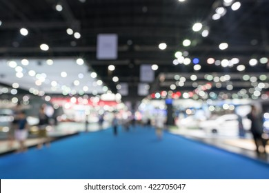 Blurred, defocused background of public event exhibition hall