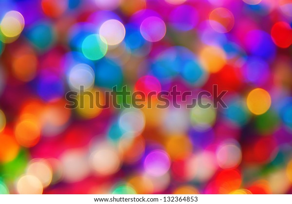 blurred defocused multi color lights