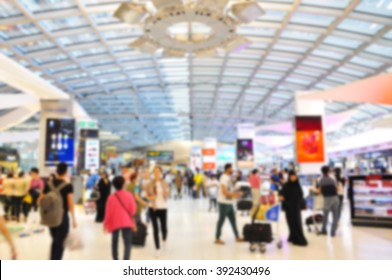 Blurred of Duty Free shop at Airport