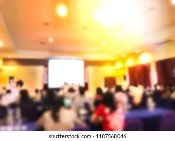 Blurred education or business people sitting in meeting room for profession seminar