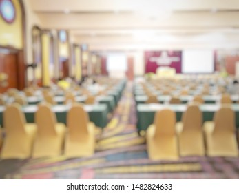 Blurred of empty people in conference room