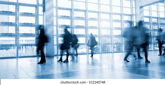 blurred Exhibition visitors