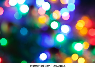Blurred fairy lights background.