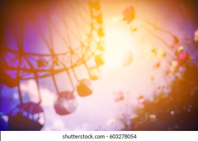 blurred ferris wheel