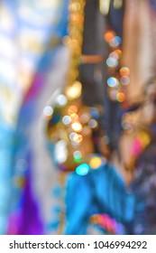 blurred festive background