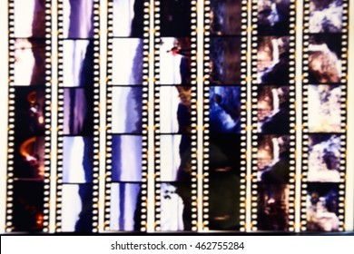 Blurred of film contact print used for background