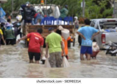 Blurred flood crisis background Texture .