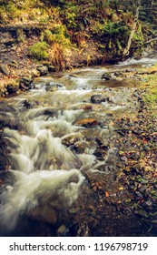 Blurred flowing water