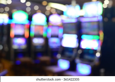 Blurred focus in casino