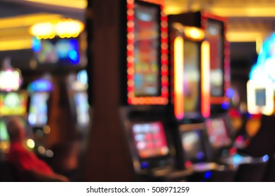 Blurred focus in casino. Abstract Background in Vegas Nevada. Blurred Background.