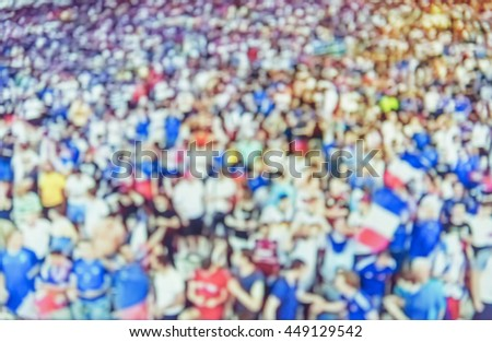 Blurred Football Fans Soccer Fans Cheering Stock Photo Edit Now