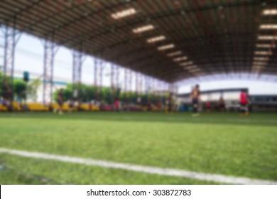 Blurred Football Indoor Stadium