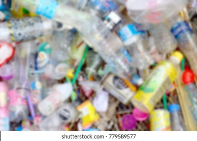Blurred Garbage Plastic Bottle Background texture, Bin, Trash, Dirty, Waste, Pollution waste, Plastic waste background