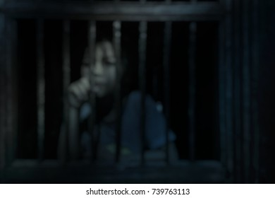 Blurred of girl in house, Children's rights law and employment law concept.