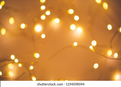 Blurred golden festive lights. Christmas time concept. Perfect new year backdrop. Party concept.