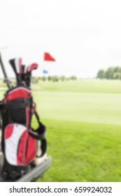 Blurred Golf Background Concept