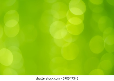 Blurred green light for background