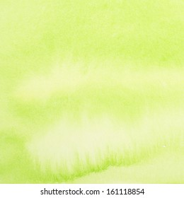 Blurred green watercolor painting as background
