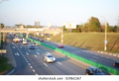 Blurred highway background