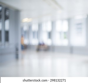 Blurred hospital and staff for background