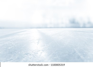 BLURRED ICE HOCKEY STADIUM, COLD LIGHT BACKGROUND