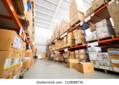 Blurred image of agriculture chemicals warehouse