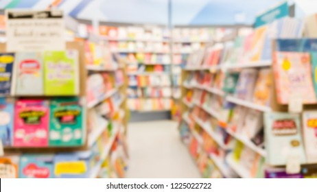blurred image of book store