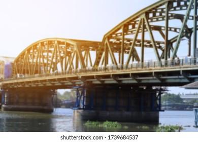 blurred image of bridge in thailand