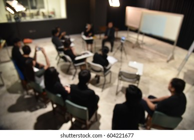 blurred image of Business People Colleagues Teamwork Meeting for planning Seminar Conference Concept.