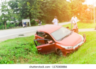 Blurred image of car accident.