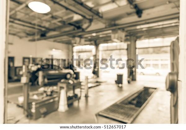 Blurred Image Car Auto Shop Defocused Stock Photo Edit Now 512657017