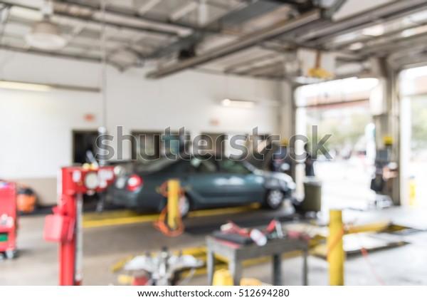 Blurred Image Car Auto Shop Defocused Stock Photo Edit Now 512694280