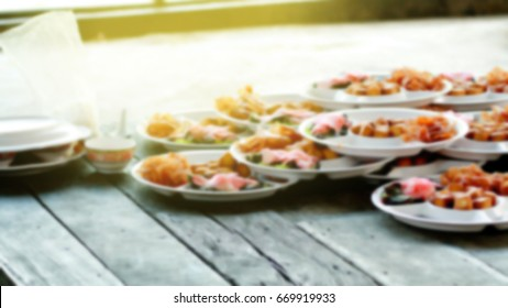 Blurred image of Chinese food style