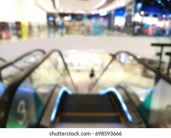 Blurred image of department store