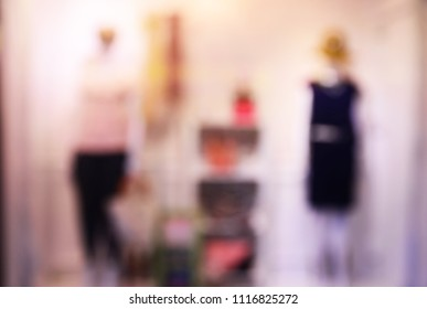 Blurred image of a dress store